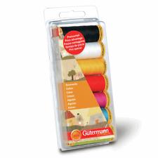 Gutermann Cotton Assorted Sewing Thread Set 100mtr X 7 Reels 731145