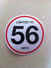 75 X 150 Mm Vehicle Speed Limited To 56 Mph Restriction Stickers Vinyl Van Truck