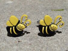 Bumble Bee Cufflinks--Bees Insect Forest Honey Wildlife Nature Animal Garden Bug