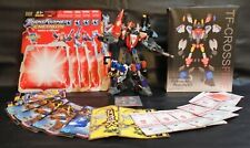TRANSFORMERS ENERGON SUPERION TEAM & CROSSFIRE ADD-ON 100% COMPLETE + MANUALS