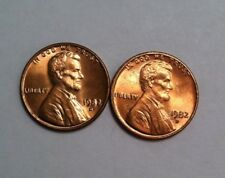 1982-D Large Date Copper And Large Date Zinc BU Lincoln Cents