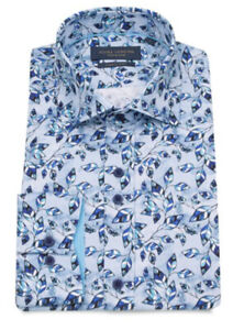 New Mens Guide London Leaf Blue Shirt Size M £39.99 or best offerRRP £90