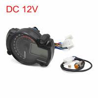 Adjustable Motorcycle LCD Digital Speedometer Tachometer Odometer Gauge Black