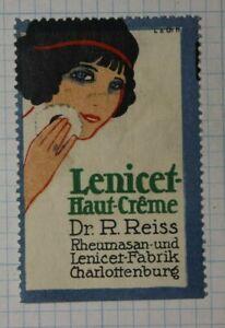 Lenicet Skin Cream Dr R Reiss German Brand Poster Stamp Ads