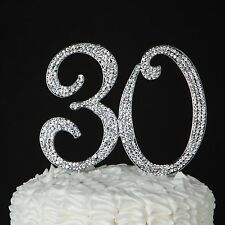 30 Cake Topper for 30th Birthday or Anniversary