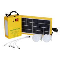 Solargenerator Stromerzeuger Solarpanel USB Ladegeräte mit 2 LED Licht  !