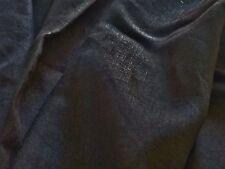 Ligero Lino Algodón satisfaciendo-Negro = Tela del vestido-Free P + P