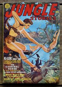 JUNGLE STORIES - Fall 1942 - PULP MAGAZINE - High Grade