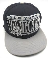 NEW YORK YANKEES blue / gray adjustable cap / hat by New Era - 100% cotton