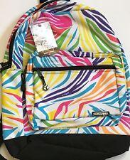 YAK PAK Deluxe Student Backpack Multi-Colored Zebra Design 6707
