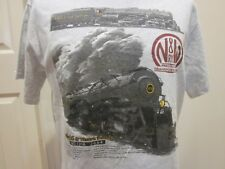 NORFOLK & WESTERN RAILWAY T SHIRT LOCOMOTIVE ENGINE NO. 1218 TRAINS RAILROAD