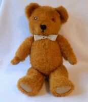 VINTAGE GOLDEN BROWN PLUSH TEDDY BEAR. PULL STRING VOICE BOX. FULLY JOINTED.