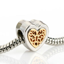 Nice Gold Silver Family tree Hollow Glamour Bead For 925 Silver Charms Bracelet