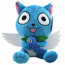 Fairy Tail Blue Happy Cat Plush Doll Figure Soft Toy 10 inch Xmas Gift