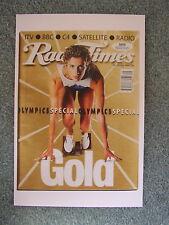 Postcard Radio Times 20-26 July 1996 Olympic games 22nd Birthday card Athletics
