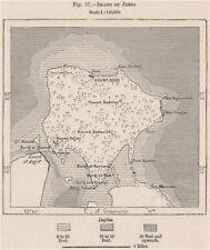 Island of Djerba. Tunisia 1885 old antique vintage map plan chart