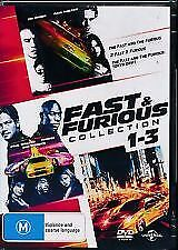 Fast & Furious Collection 1-3 (DVD) Region 4 Very Good Condition