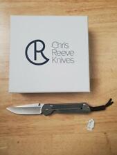 Chris Reeve small sebenza 21 inlay micarta canvas black