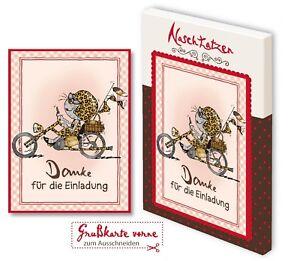 GlückwunschkarteDankeFürDieEinladung mit 70gr Vollmilchschokolade Kunstgrußkarte
