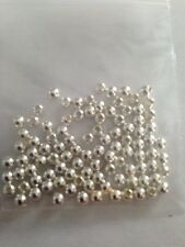 100 3mm Sterling Silver .925 Round Beads L@@K