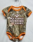Realtree Camo Baby Boy's One Piece Bodysuit Size 0-3M, My First Hunting Shirt