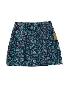 New Title Nine Women's Size Small Blue Golf Tennis Skirt Diamalete Floral (t10)