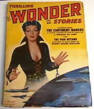 Thrilling Wonder Stories - US pulp – April 1951 - Vol.38 No.1 - DeCamp, Reynolds