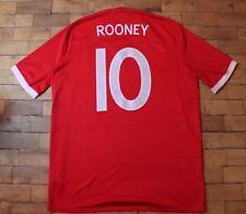 ENGLAND NATIONAL TEAM 2010/2011 Wayne Rooney FOOTBALL SHIRT JERSEY AWAY UMBRO