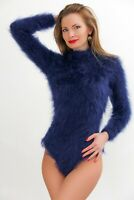 Fuzzy mohair bodysuit fuzzy sweater hand knit warm fluffy soft top SUPERTANYA