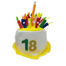 18 ANNI cappello cilindro giallo con numero glitter e 18 candeline feste e  party 20c9e5734683