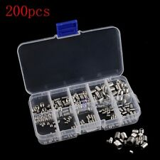 200pcs Stainless Steel Hex Head Socket Allen Grub Screw Cup Point Assortment Kit
