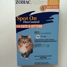Zodiac Spot On Flea Control for Cats & Kittens 4 month Supply