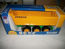 Big Farm Series - Joskin 3-Axle Tipping Trailer Bruder Farm Toy Wagon NEW