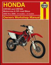HAYNES 2630 MOTORCYCLE SERVICE REPAIR OWNER MANUAL HONDA CRF250 CRF450 02 - 06