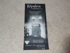 "Very Rare 1955 Klipsch Klipschorn Speaker Ad, 1 pg, 6""x11"" Paul's Best Design!"