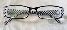 Handmade Black & White Check Reading Glasses 2.50 Readers only courtly