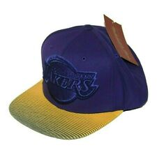 Los Angeles Lakers Hat Snapback Size 7 to 7-3/4 Mitchell & Ness Rubberized Visor