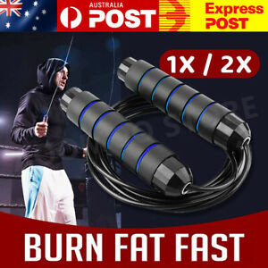 Heavy Weighted Skipping Jump Rope Sweat-proof Boxing Training Fitness Gym Speed