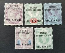 Nigeria Oil Rivers Protectorate SG2, 3, 4, 5,6 MM & SG4 Used