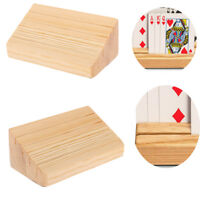 2xWooden Playing Card Holder Base for Hands Free Playing Holds Up To 15 Card