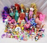 Huge Girls Mixed Toy Lot: Ponies, Barbies, Squinkies, Etc. (QW)