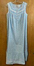 Sleeveless Printed Cotton Nightgown (Size Large)