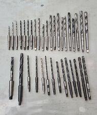 35pc Lot Morse Taper Drill Bits Mt1 Usa Different Sizes Union Ptd Morse Etc