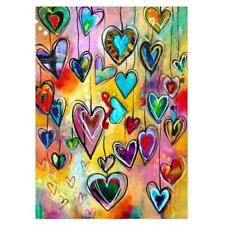 5D Heart Colorful Diamond Painting Embroidery Cross Stitch DIY Craft Home Decor