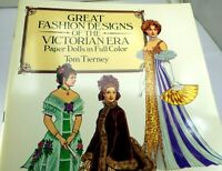 Dover Victorian Paper Dolls: Great Fashion Designs of the Victorian Era Tierney