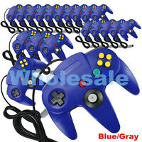 Wholesale NEW Long Controller Game System for Nintendo 64 N64 Blue/Gray Lot USA
