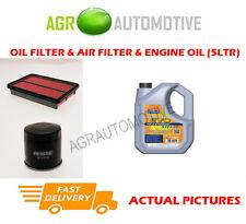 PETROL OIL AIR FILTER KIT + LL 5W30 OIL FOR MAZDA PREMACY 1.8 114 BHP 1999-05