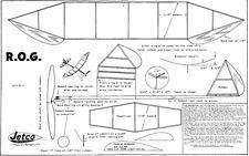 JETCO ROG plan década de 1940 modelo de vuelo libre