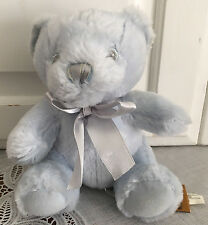 """Blue Pastel Pal Teddy Bear Baby Rattle Infant Plush 6"""" Toy First & Main Lovey"""