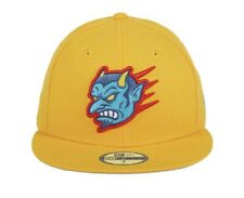 Exclusive New Era 59Fifty 7 3/4 Chamuco Flying Devils Fitted Cap Hat Gold